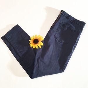 J. Crew navy blue Dannie ankle jegging pants 12